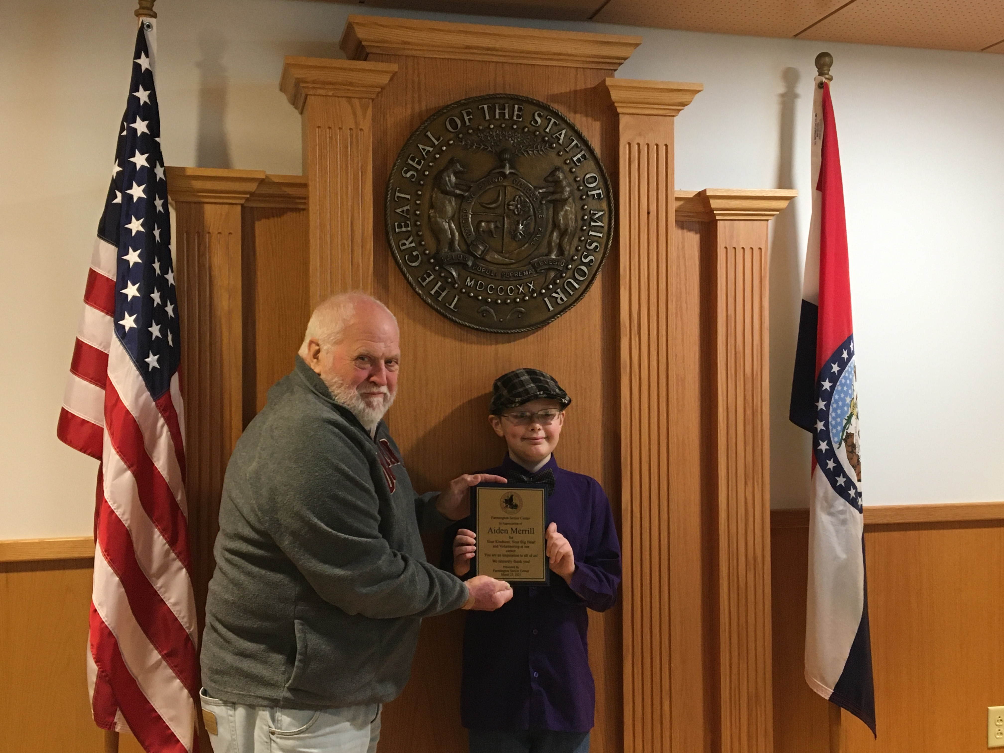 County Commission Honors Young Volunteer