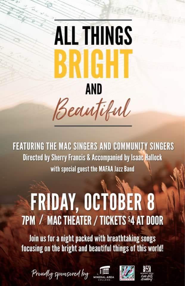Choral Concert Friday Night at MAC