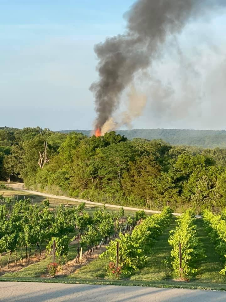 Chaumette Winery Building Destroyed by Fire