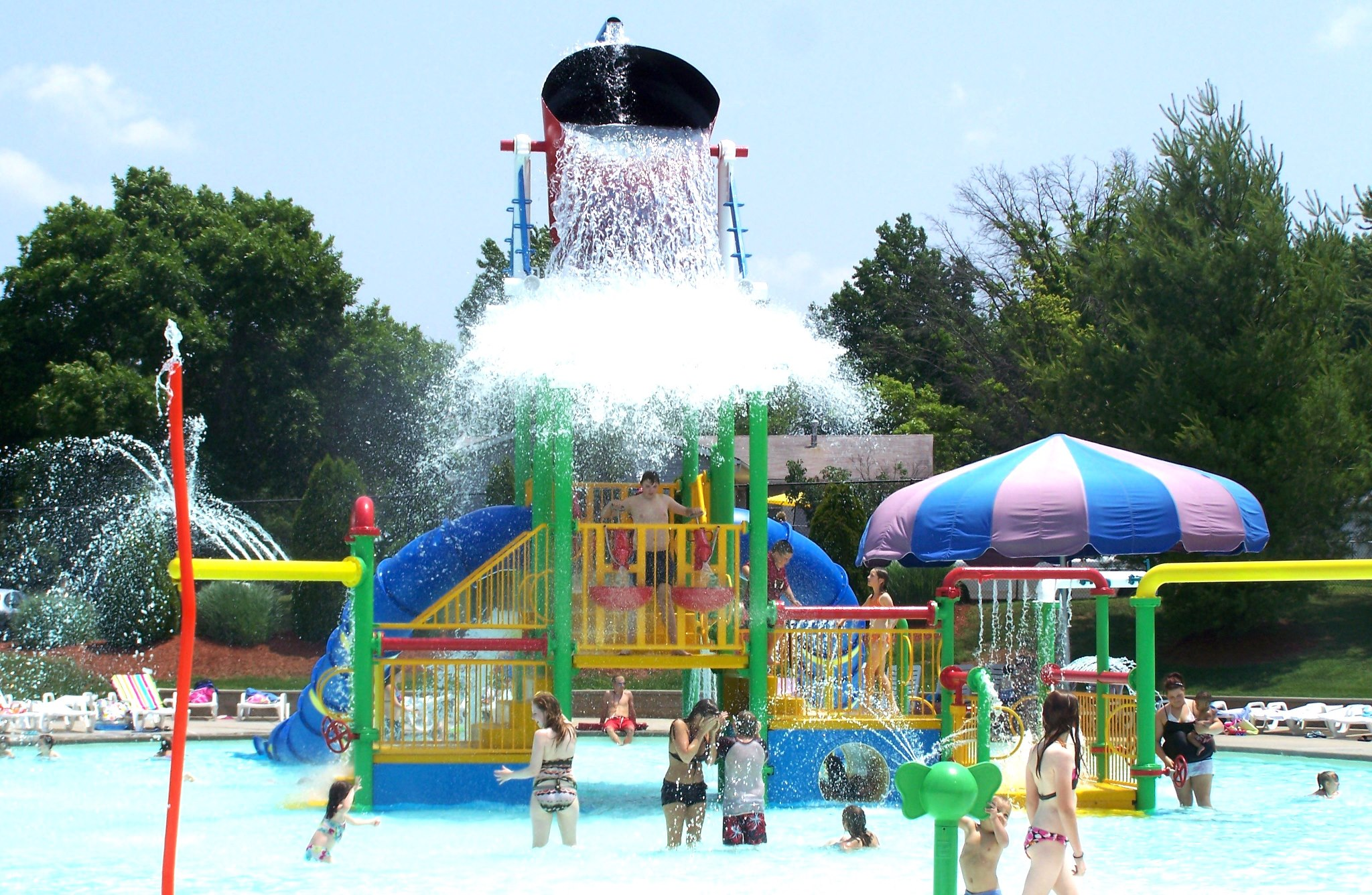 The Opening of the Farmington Water Park