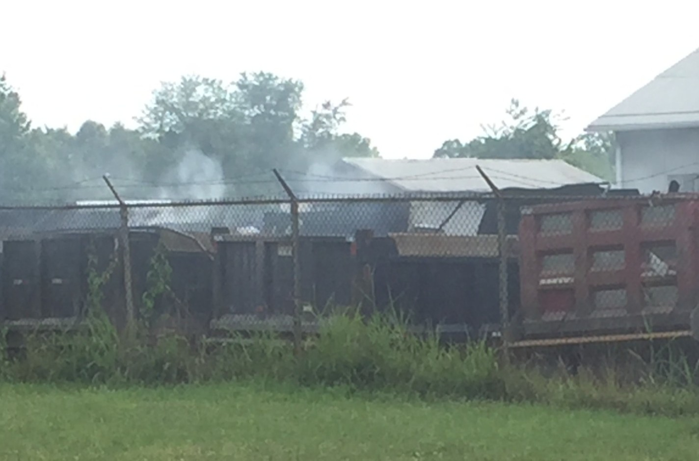 Truck Fire at Campbell's Excavating
