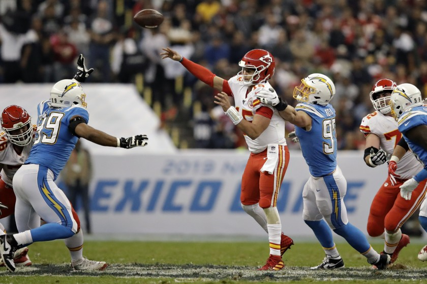 Chiefs pick Philip Rivers four times in Monday Night win